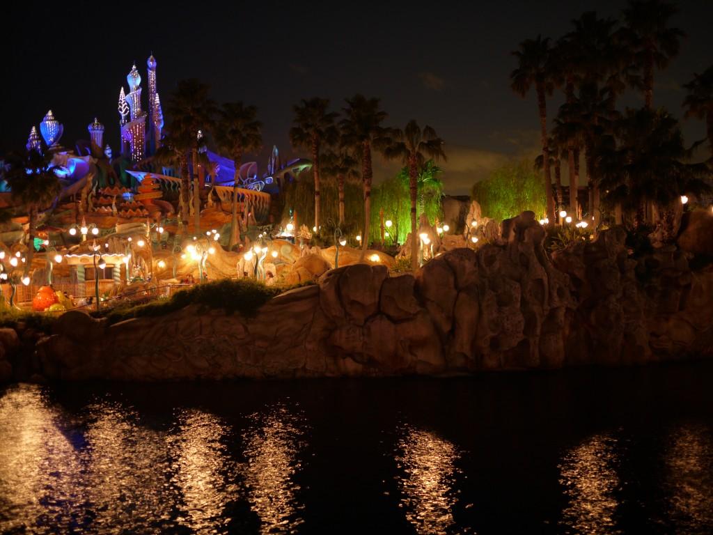 ディズニーシーの夜景は素晴らしい!