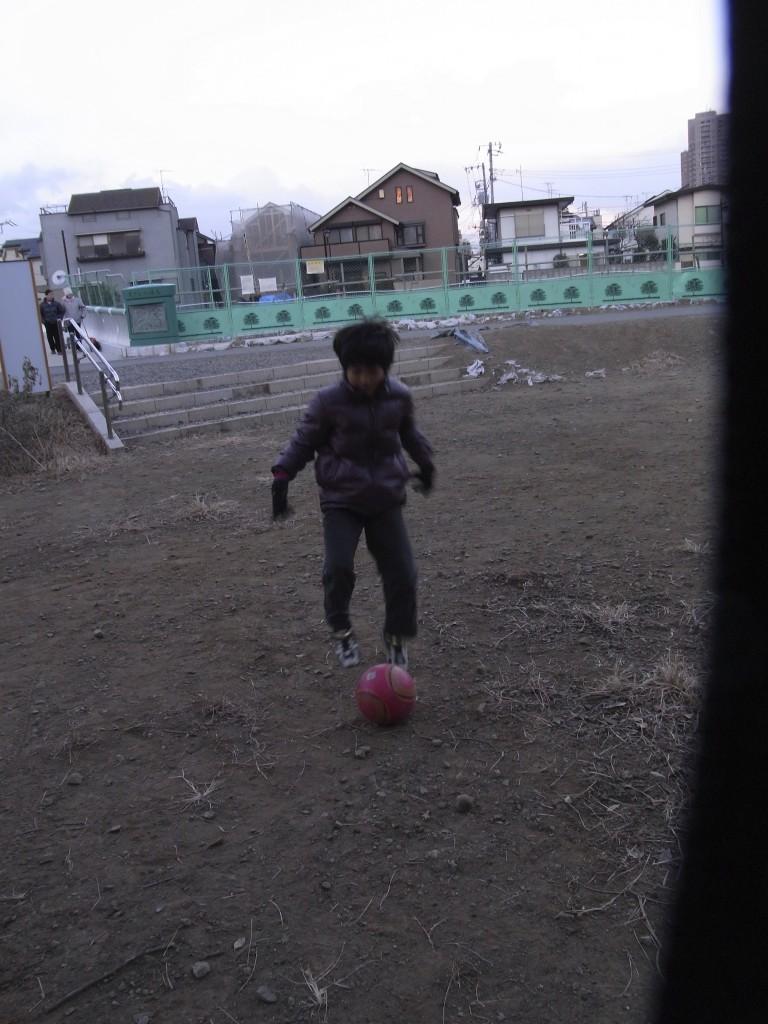 サッカーの練習です