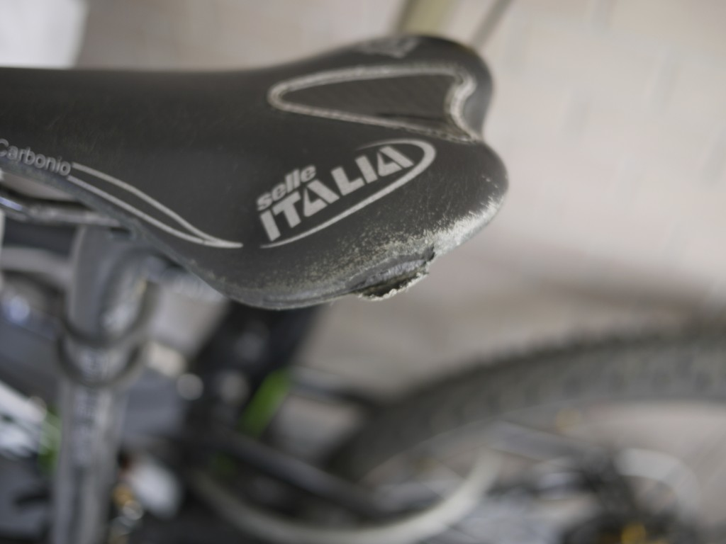 Selle Italia SLR Kit Carbonioの擦り傷