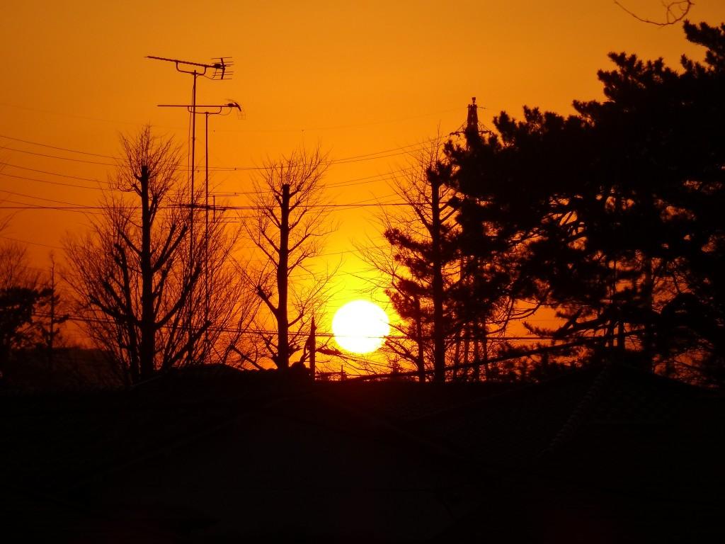 日の入り近く