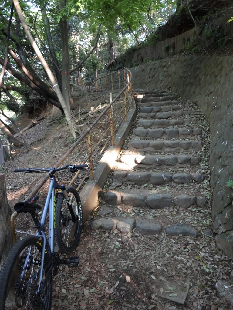 粉太郎(Kona Taro)と階段