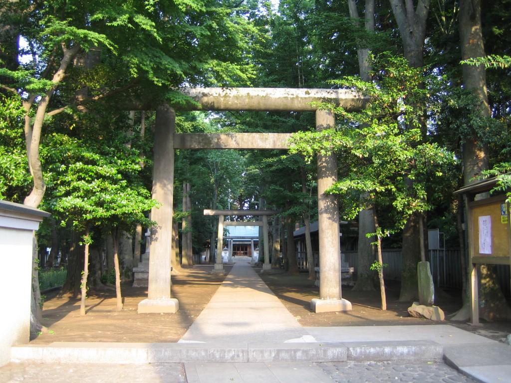 奥行きがある神社です
