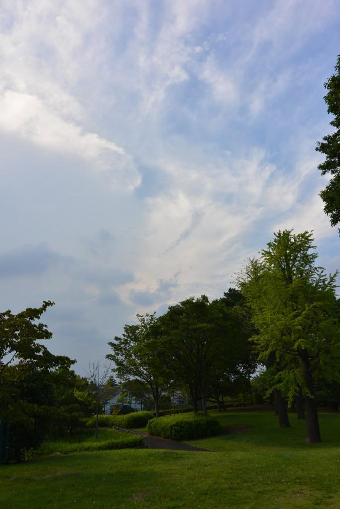 怪しい雲が出てきました