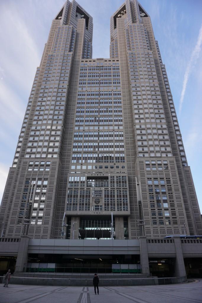 ツアー集合場所付近にて。東京都庁。