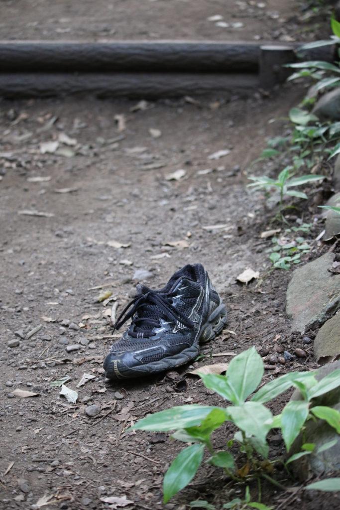 昨日は途中で靴が脱げちゃった
