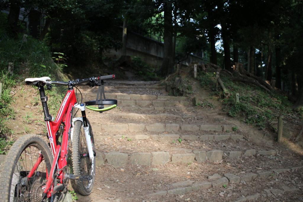 この不規則な階段もスムース