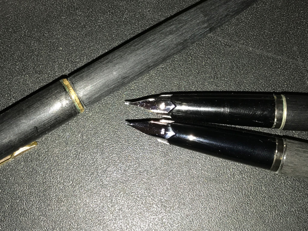 ペン先の形状が微妙に異なる