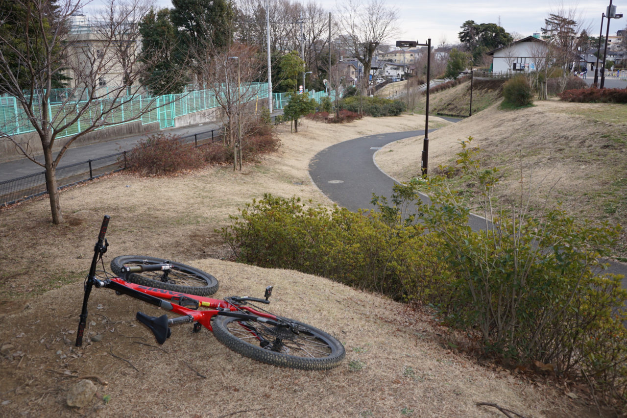 立体感のある公園セクション