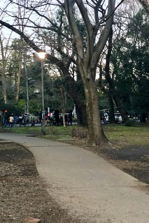 和田堀公園ではなんか撮影していました