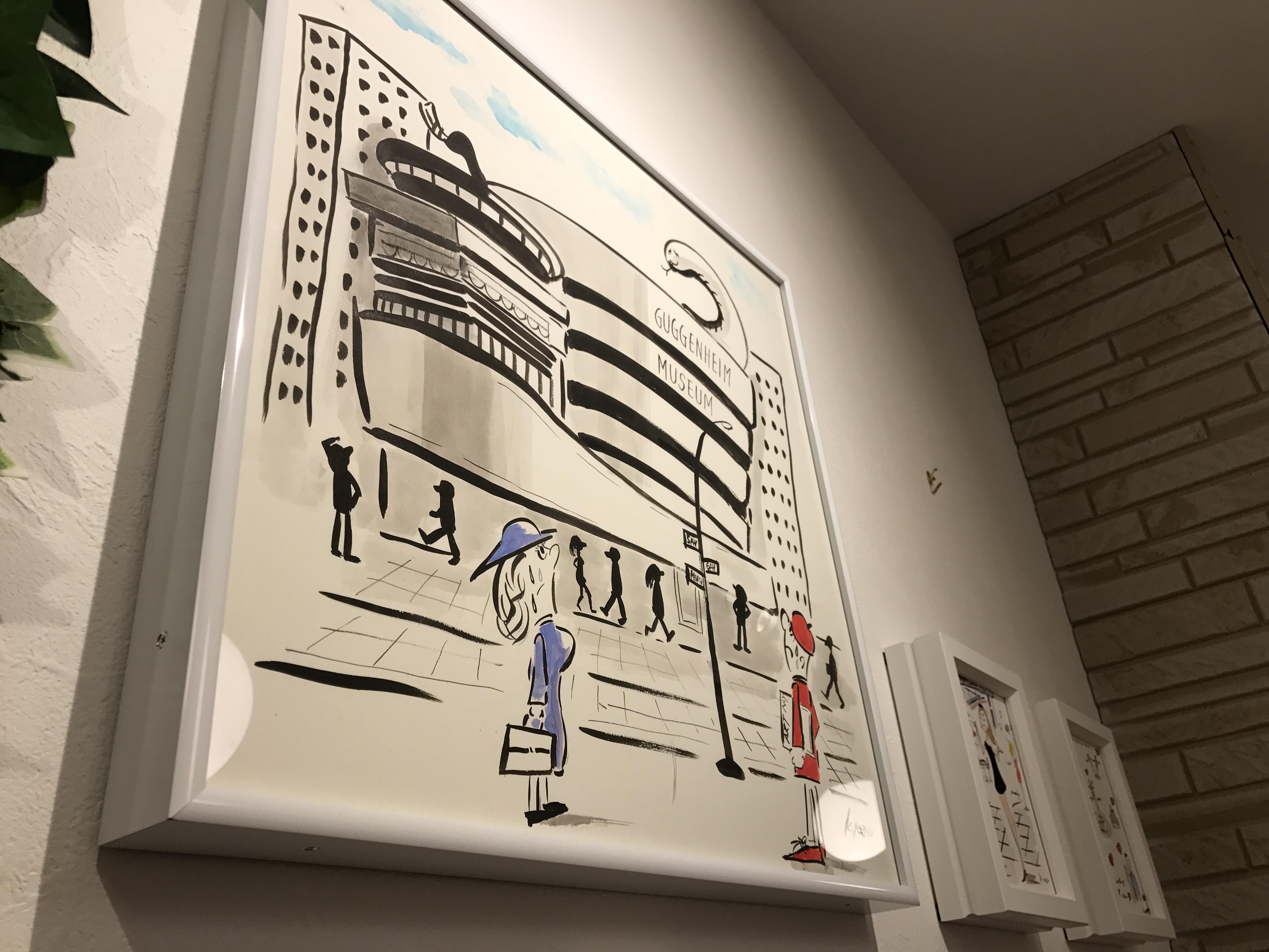 gram様に展示されている近藤さんのイラスト