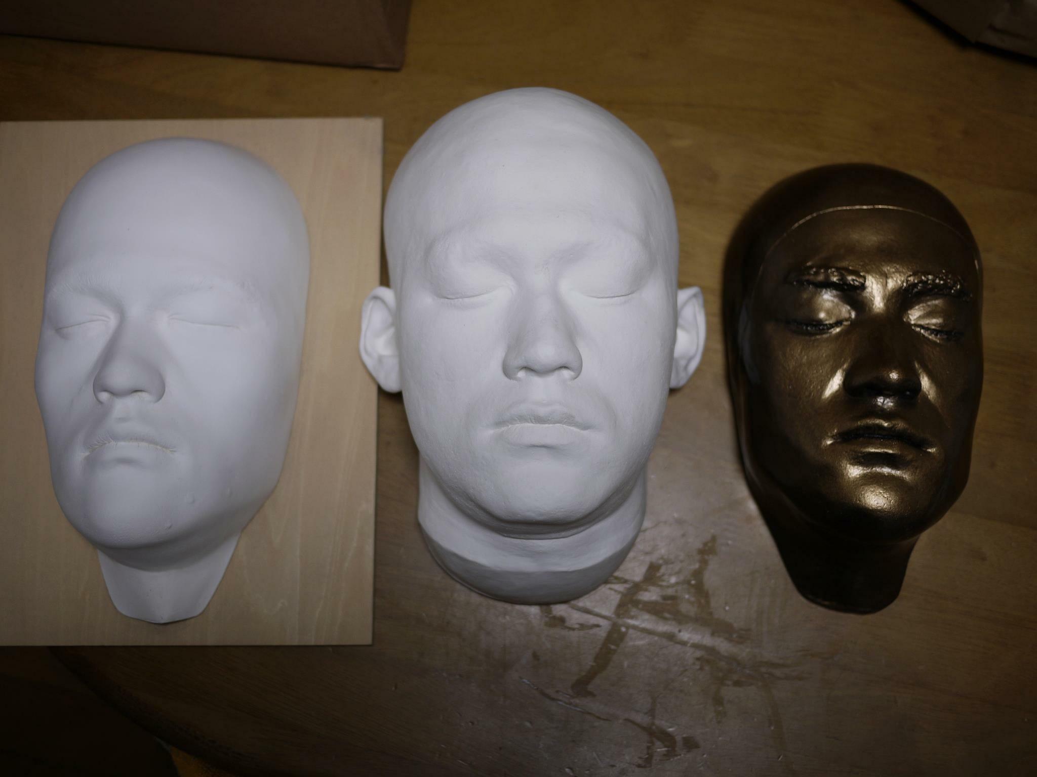 リー先生のライフマスク3種