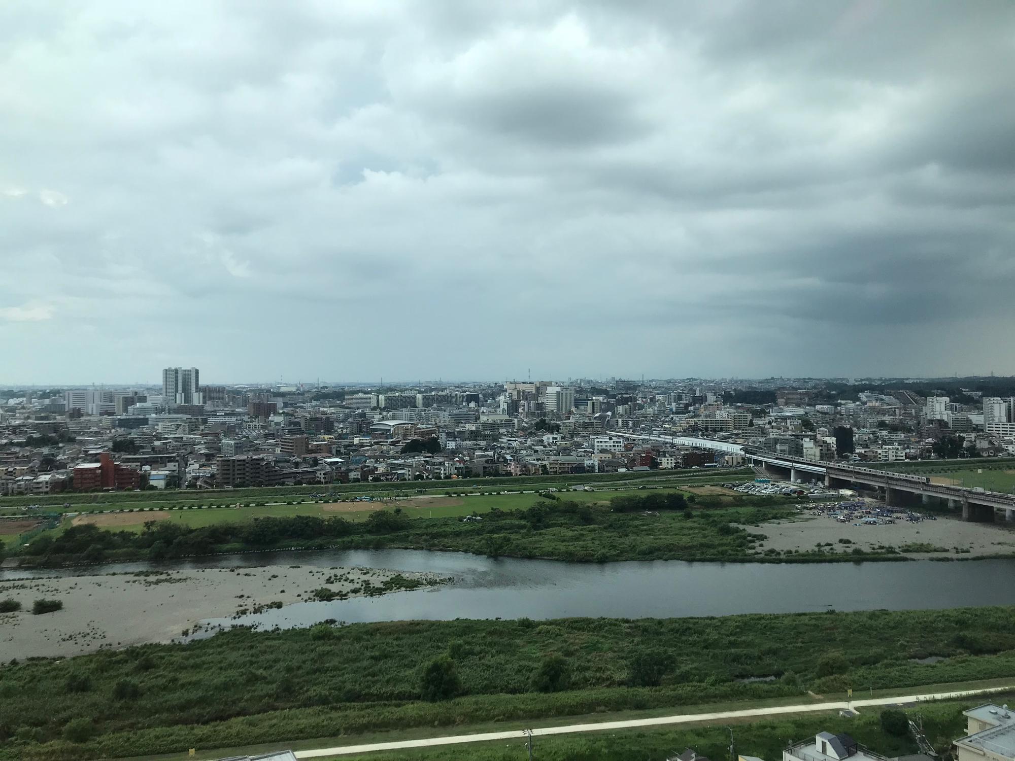 18階から見える多摩川