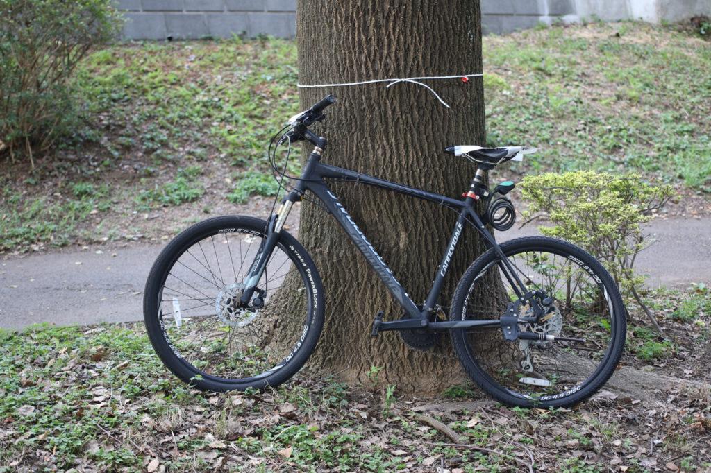 先週土曜日の時点にも放置されていたCannondaleバイク