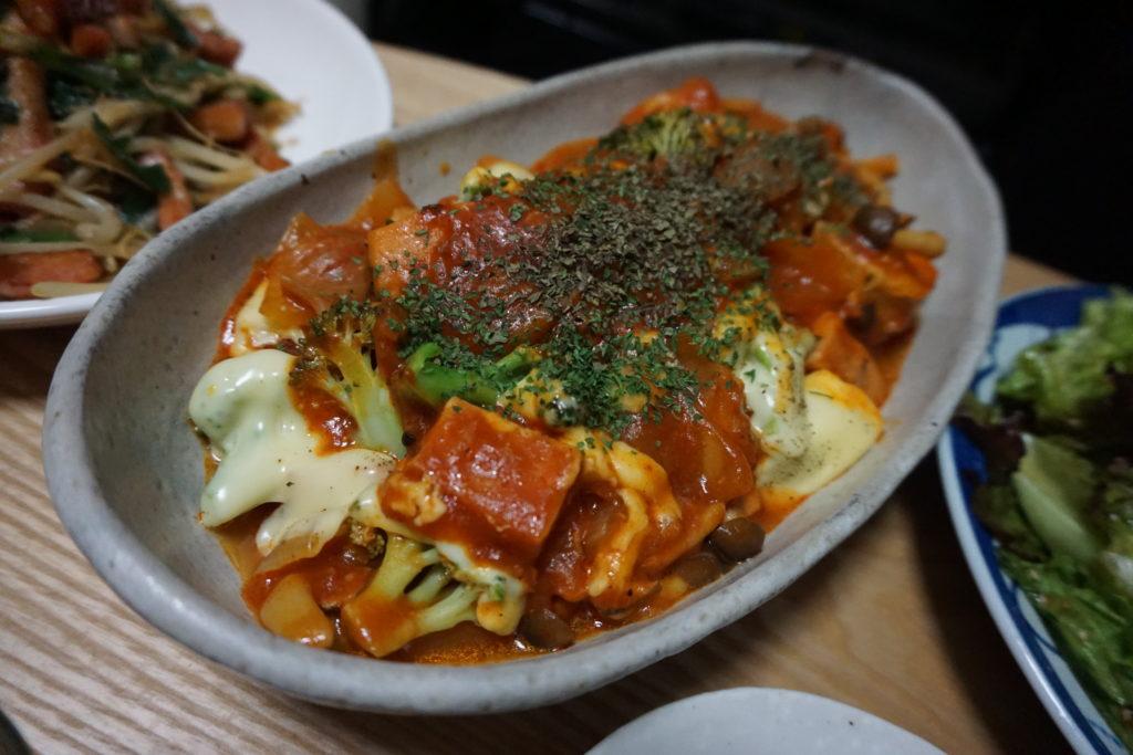 高野豆腐とチキンのトマトソース