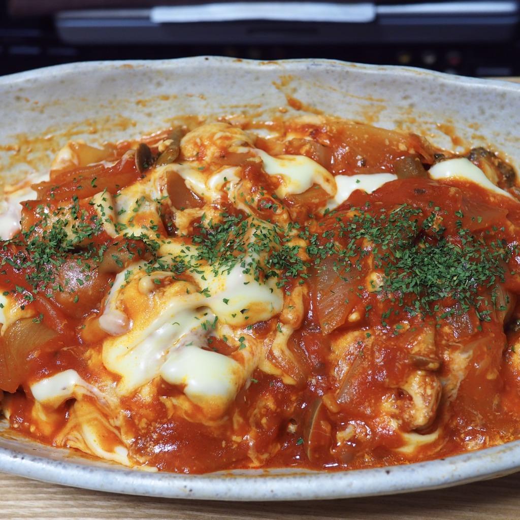 高野豆腐のトマトソース