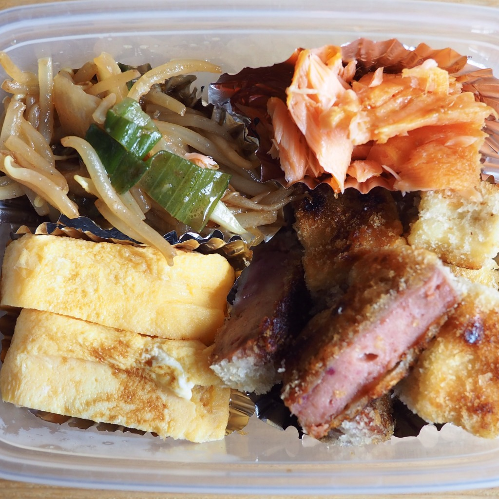 ハムカツ&高野豆腐揚げ弁当