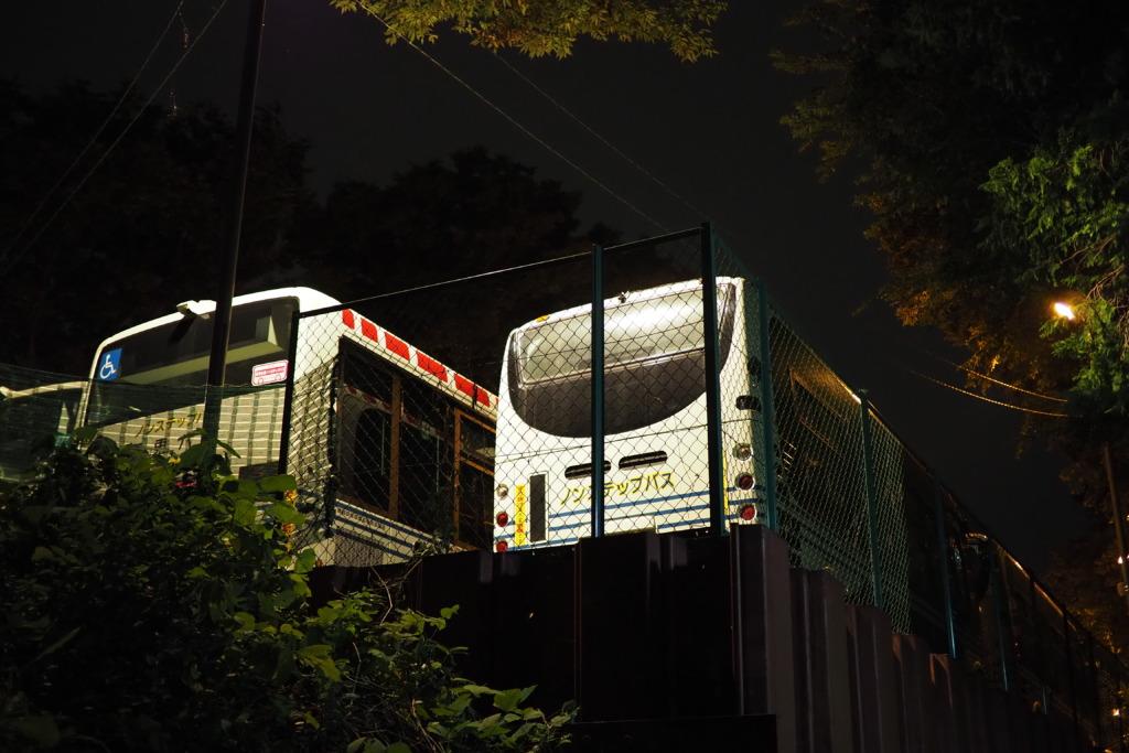 バスの車庫