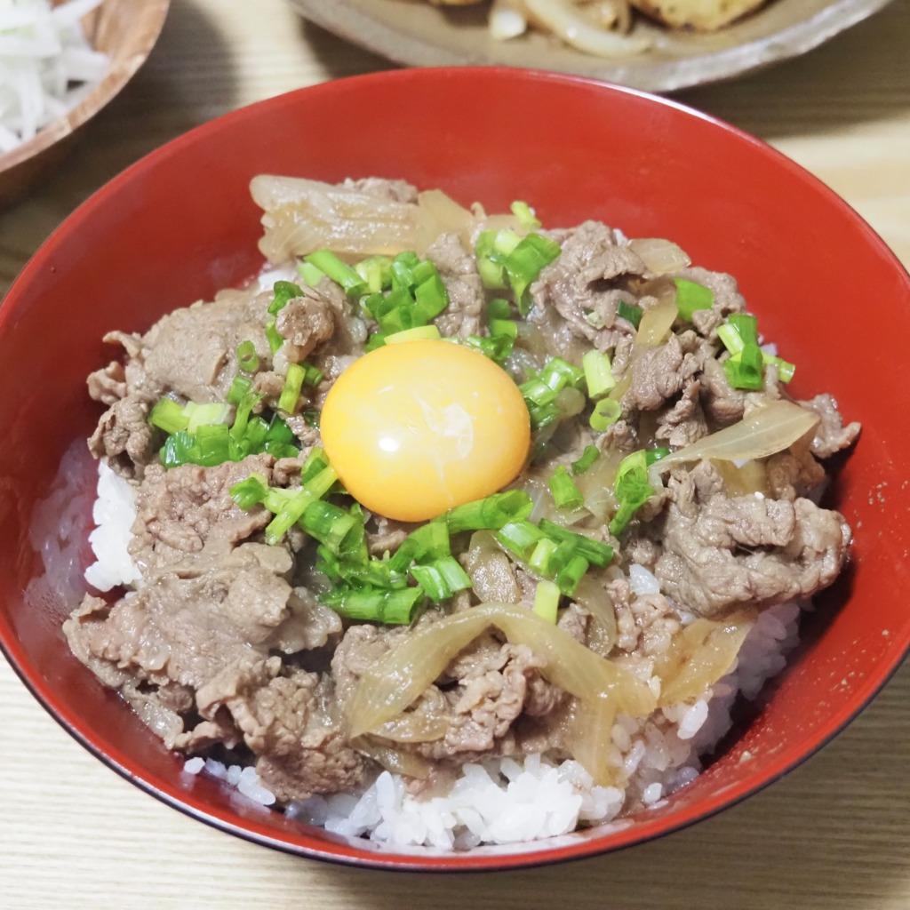 ねぎ玉牛丼